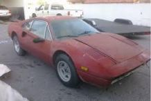 old faded farrari 308